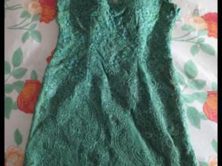 Vestido Verde Brilhoso Discreto